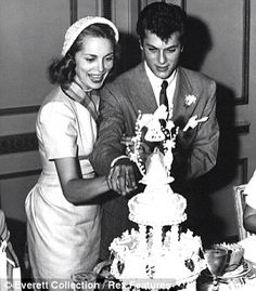 Tony Curtis proposed to Janet Leigh over the telephone. In spite of studio pressure to not marry, Tony, age 26 and Janet, age 23 eloped and were married on June 4, 1951 in Greenwich, Connecticut. Jerry Lewis was best man and his wife was matron of honor. The ceremony was performed by a judge at the courthouse. Janet wore a short sleeved knee-length dress and a stylish hat. Their wedding night dinner was at Danny's Hideaway in New York City. They had a party the next day to celebrate their…