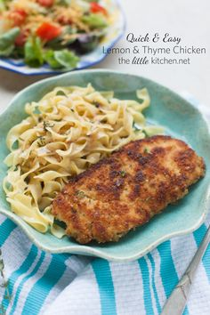 Lemon & Thyme Chicken. A quick and easy recipe full of flavor from @The Little Kitchen | Julie Deily,  #KitchnConvo