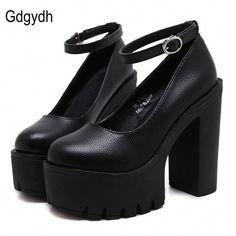 a268c65a581 Spring Autumn Casual High-heel Shoes Sexy Thick Heels Platform Pumps Black  White  Platformpumps
