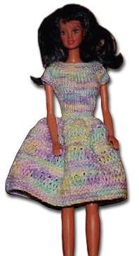 Patterns  for Barbie and Ken - click this link: http://www.allcrafts.net/crochetsewingcrafts.htm?url=www.bevscountrycottage.com%2Fbarbie.html