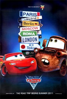 pixar movies | Disney Cars : All cars Pixar movie #5 poster. From Movie Poster shop