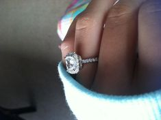 Harry Winston Cushion Cut Engagement Ring!