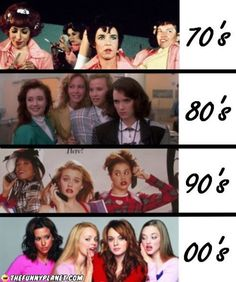 Clique Transformation omg I've seen all those movies grease heathers clueless and of course mean girls