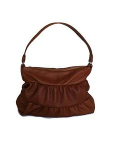 Genuine tan leather medium hobo bag purse shoulder handbag handmade dalay