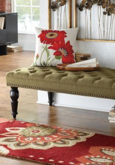 Chesterfield Tufted Ottoman.