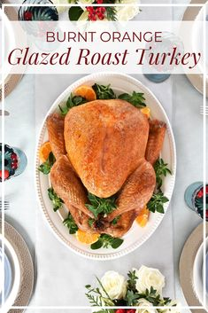Think turkey this holiday season with our delicious Burnt Orange Glazed Roast Turkey! Whole Turkey Recipes, Roasted Turkey, Burnt Orange, Family Meals, Special Occasion, Tasty, Chicken, Holiday, Food