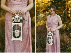 Bridesmaids carrying lanterns instead of bouquets    Glasgow Farm, VA    Victoria Selman Photographer