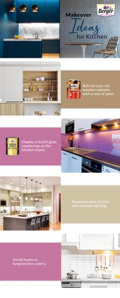 Time you bid adieu to boring kitchens and give it a jazzed up look.  Get inspired with amazing kitchen makeover ideas. #wallpaints #wallpaintideas #homelove #wallpainttips #homepaintingideas #wallinspirations #colourinspiration #decorinspiration #decorlove #decorideas #homepaintingguide #homepaintingtips #decorguide #decortricks