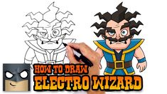 How to Draw Electro Wizard (Clash Royale)- Cartooning 4 Kids