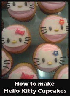 How to make Hello Kitty Cupcakes