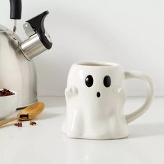 9.7oz Stoneware Ghost Mug White - Threshold™ : Target
