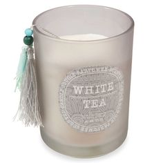 Bougie parfumée en verre H 13 cm WHITE TEA