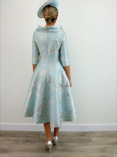 Please Note: The Fely Campo brand is designed with a small fit. We recommend you purchase a size larger than you normally wear. Mother Of The Bride Fashion, Mother Of Bride Outfits, Mother Of Groom Dresses, Blue Dresses For Women, Nice Dresses, Classy Dress, Classy Outfits, African Traditional Wedding Dress, African Dress