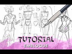 Curso de dibujo a lápiz cap. 5 (Simplificacion del cuerpo humano con figuras geométricas) - YouTube