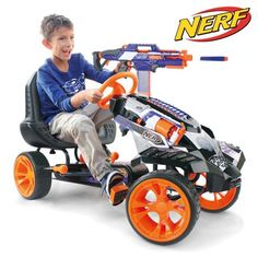 Crochet Toys For Boys NERF Battle Racer is the ultimate Go Kart! Get ready to experience the exhilaration of the NERF Battle Racer. Along with the innovative, durable features and sporty design, the NERF Battle Racer gives an authentic driving experience Go Karts For Kids, Foto Gift, Pistola Nerf, Nerf Gun Storage, Nerf Toys, Nerf Games, Kids Toys For Boys, Cool Kids Toys, Awesome Toys