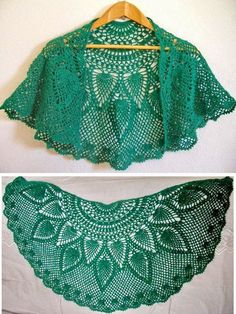 Crochet Shawls: Crochet Lace Capelet - Beautiful ♥LCP-MRS♥ with diagrams.