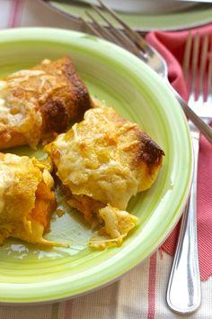 Crepes di ceci con zucca  scalogni e rosmarino : i grandi piatti vegetariani!
