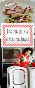 Holiday Cookies | Holiday Traditions | Baking with a toddler | Sugar Cookies | Little Partners Learning Tower | Busy Little Izzy Blog | #sponsored