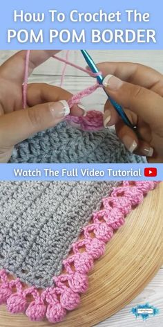 Crochet Trim, Diy Crochet, Crochet Crafts, Crochet Baby, Tutorial Crochet, Crochet Stitches For Beginners, Crochet Videos, Crochet Basics, Crochet Border Patterns