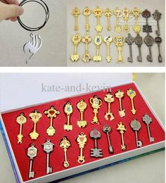 Wholesale Free Tattoo - Buy Retail Fairy Tail Lucy Keychain Scale & Free Tattoo Heartfilia Sign of the Zodiac Gold Key18style, $17.33   DHgate