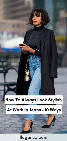 54e6a557a81c How to Always Look Stylish At Work In Jeans - 10 Ways. Friday Outfit For ...