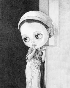Blythe as Nausicaä - by Thomas DePorter (Friend2Blythe)