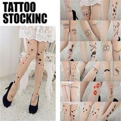 Frauen-reizvoller Chiffon-Falsch hohe Besatzdichte hohe Knie-Tattoo Strumpfhosen
