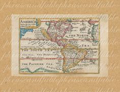 Map Of Americas From The 1600s 323 North America South America New World  Map Continent Ocean
