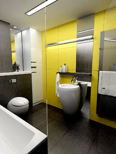 Sunny Yellow Bathroom Design Ideas Yellow Bathrooms Yellow