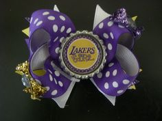 Lakers girl boutique bow by AbraBOWdana on Etsy, $10.00