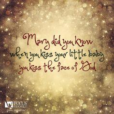 christmas carol mary did you know
