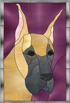 great dane stained glass | Great Dane Designs