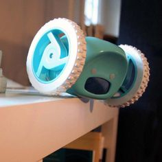 This amazing rolling alarm clock jumps off your dresser - runs & hides until you get up and shut him off! Making it pretty impossible for you to oversleep! --- WOW! I need this!