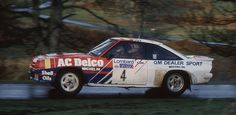 Jimmy McRae in the Opel Manta 400 on the Loton Park Stage of the 1984 RAC rally. McRae finshed overall. Rally Car, Boat, Cars, Vehicles, Sports, Rally, Hs Sports, Dinghy, Autos