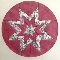 Fabric Folded Stars, Somerset Patchwork, Somerset Patchwork, Pot Holder