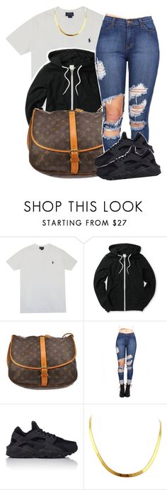 """2/18/16"" by lookatimani ❤ liked on Polyvore featuring Polo Ralph Lauren, Louis Vuitton and NIKE"