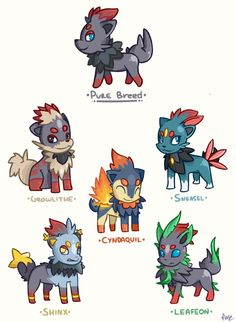 Zorua Variations by Magnum-Redstar on DeviantArt subspecies