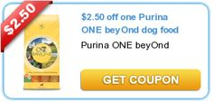HOT COUPON $2.50 off one Purina ONE beyOnd dog food
