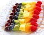 Rainbow fruit on a stick