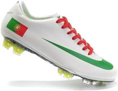 Fashion Nike Mercurial Vapor SuperFly III Elite FG Safari Portugal National Soccer Team Cleats In White Green