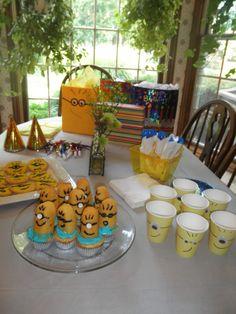 Minion birthday table.