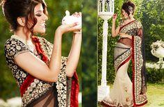 Net Saree Blouse Design