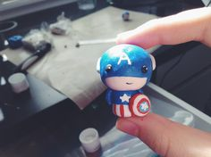 Captain America: The Winter Soldier Clay Tutorial - visit to grab an unforgettable cool Super Hero T-Shirt! Polymer Clay Animals, Polymer Clay Dolls, Polymer Clay Projects, Diy Clay, Clay Crafts, Clay Aiken, Biscuit, Clay Videos, Modeling