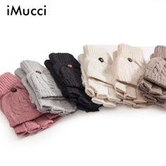 #DealOfTheDay #BestPrice iMucci Fashion Gloves Women Mitten Warmer Women Winter Glove Fingerless Gloves Female Girl Guanti iInvernali Donna…