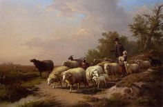 Animals Repro choose Canvas or Paper Sheep on a mountainside by Richard Ansdell