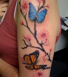 Perfect to add the girls names to! Cherry Blossom Tattoos - Tattoos.net
