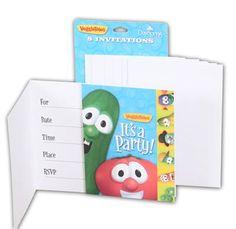 "#VeggieTales invitations - ""It's a #party!"""