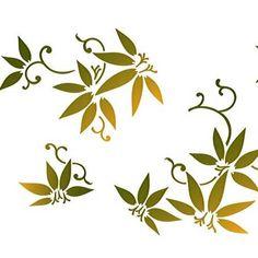 Wall Stencils | Pointed Ferns Stencil | Royal Design Studio