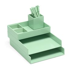 Poppin Mint Super Stacked | Cool and Modern Office Supplies #workhappy