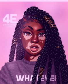 Black girl cartoon, art et design, beauty art, beauty Black Love Art, Black Girl Art, Black Is Beautiful, Black Girl Magic, Art Girl, Natural Hair Art, Natural Hair Styles, Drawings Of Black Girls, Girl Drawings
